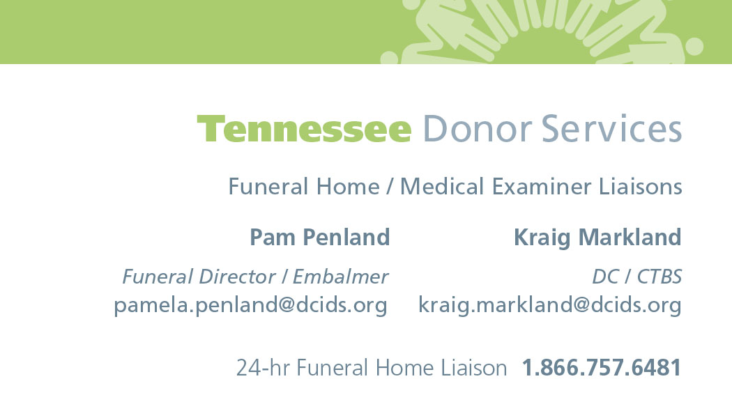 Sponsor: Tennessee Donor Services